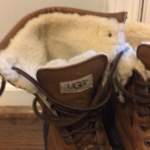 UGG Shoes - Ugg leather waterproof boots mid high size 9